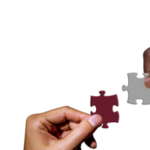 hands placing two puzzle pieces together symbolizing proper study design