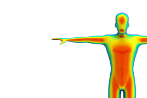 thermal scan of human for biomedical research