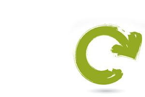Green refresh arrow symbolizing revision